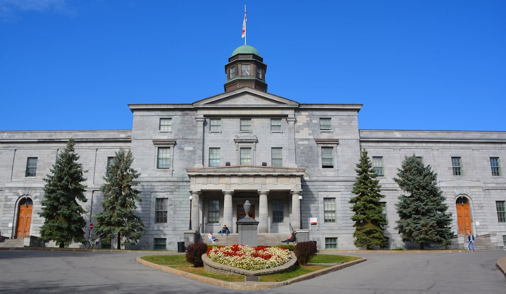 MONTREAL QUEBEC CANADA Campus McGill University is an English-language public research university. It was officially founded by royal charter issued by King George IV in 1