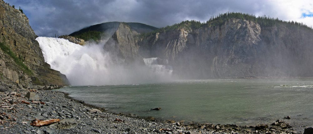 Virginia Falls Panorama on the Nahanni River, Northwest Territory, Canada
