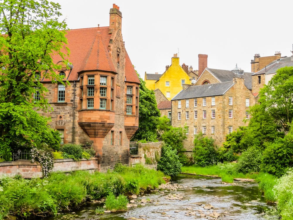 Dean Village, is a former medieval village in centre of Edinburgh. Scotland, UK