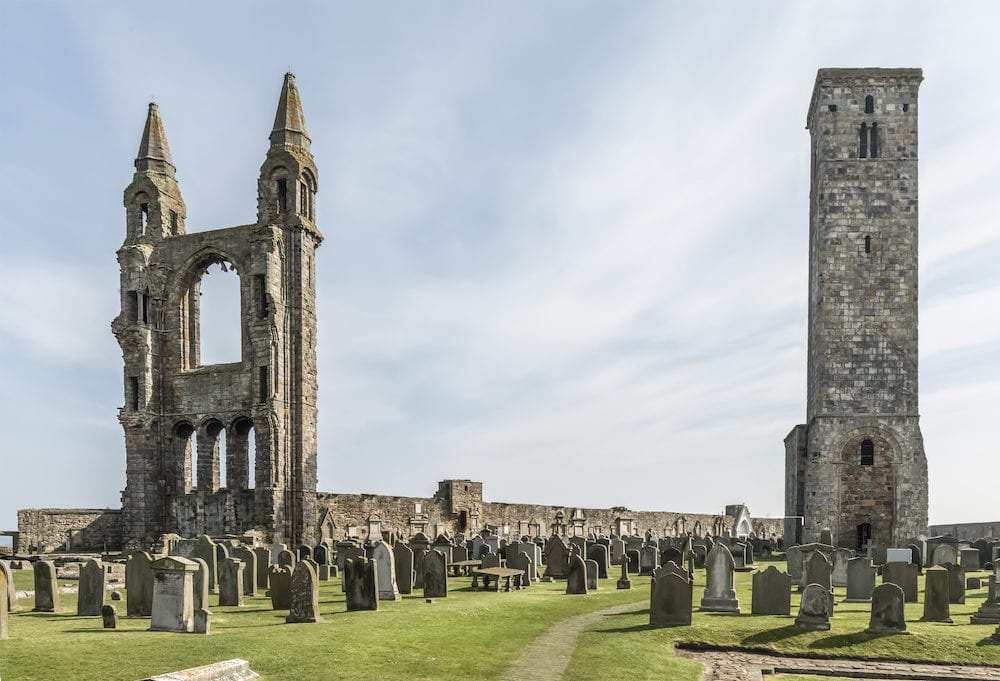 St Andrews cathedral, St Andrews, Fife in Scotland