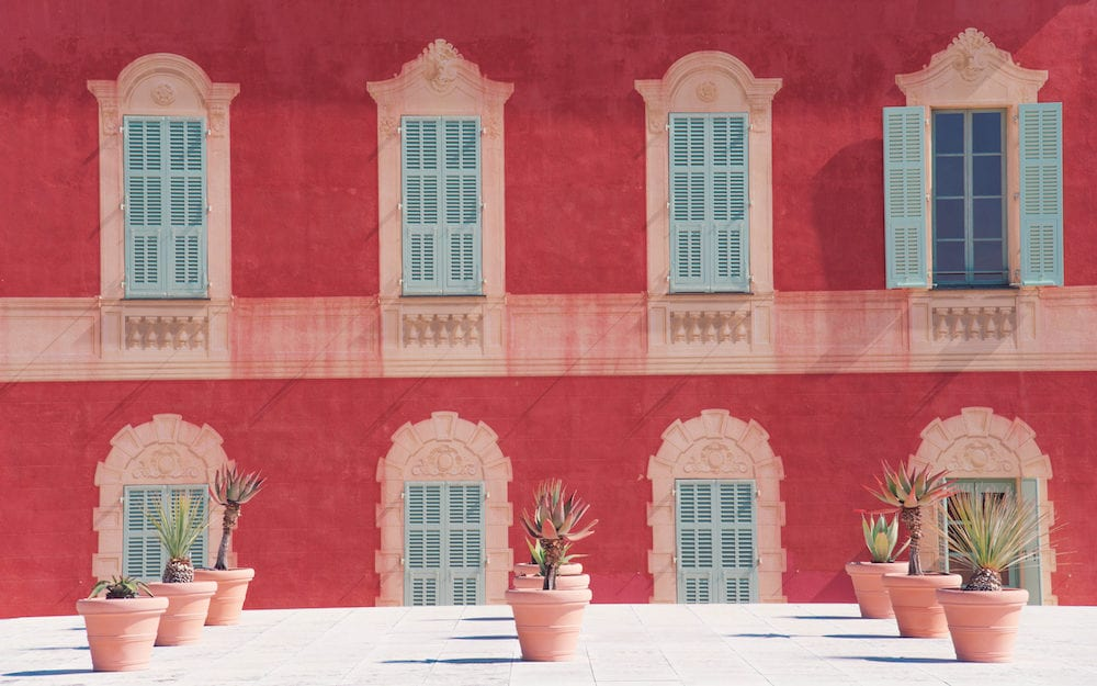 NICE, FRANCE : Facade of villa des arenes now housing of the Matisse museum.