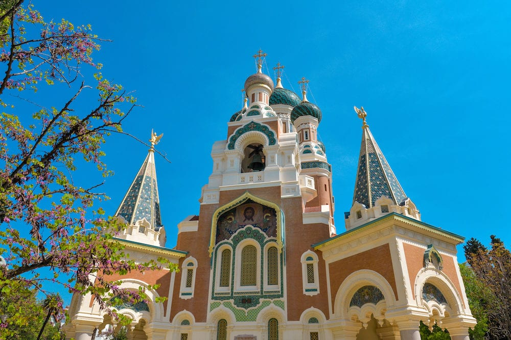The St. Nicholas Orthodox Cathedral Russian orthodox church Nice France