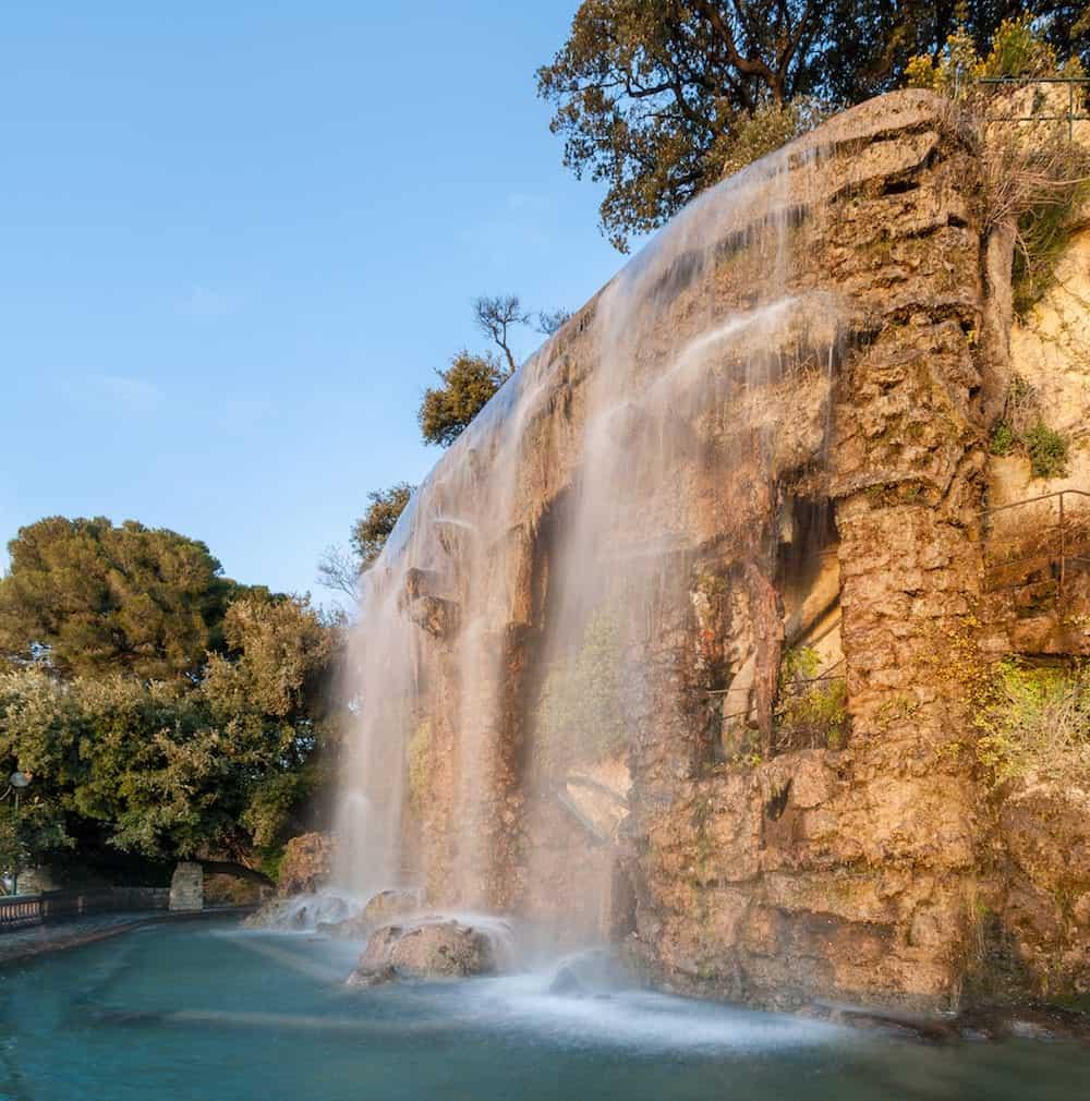 Waterfall in Parc de la Colline du Chteau - Nice France