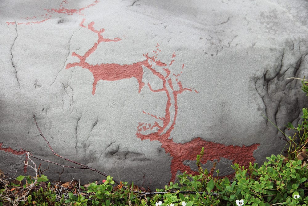 Rock carvings at Alta Norway close up