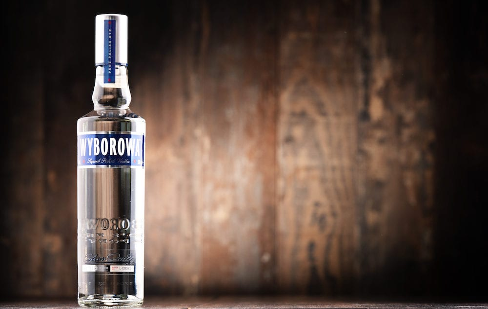 POZNAN POLAND - Wyborowa is a brand of Polish vodka originated in Poznan in 1823 becoming the first vodka brand to be an international trademark in 1927. Now owned by Pernod Ricard