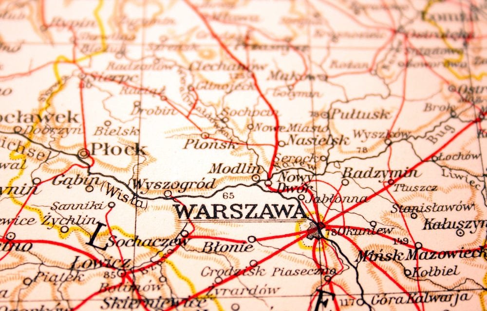 Warsaw capital of Poland the way we looked at it in 1949.