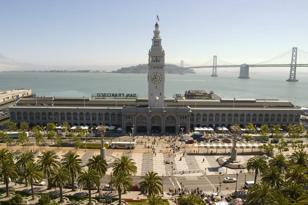 Ferry Building in daylight San Francisco California