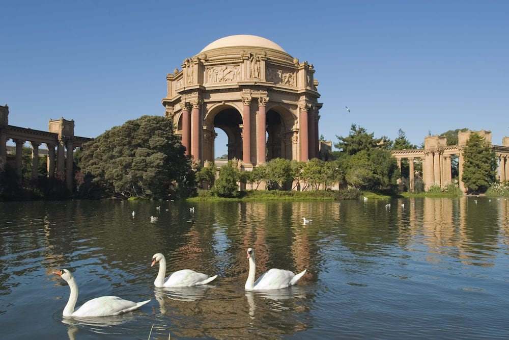 Palace of fine arts, San Francisco, California, USA
