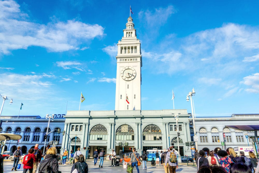 SAN FRANCISCO - The historic Ferry Building and Marketplace at the Embarcadero in downtown San Francisco was opened in 1898. At the time it was the second busiest transit terminal in the world.