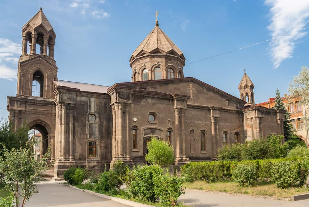 Yot Verk church in the center of Gyumri, Armenia