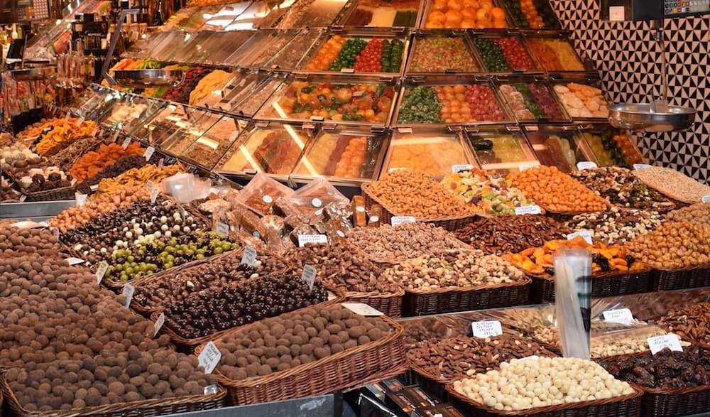 Mercado de la Boqueria in Barcelona Spain
