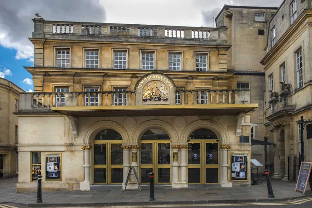 BATH, ENGLAND - The New Theatre Royal in Bath, Somerset, England, is over 200 years old, with capacity for an audience of around 900