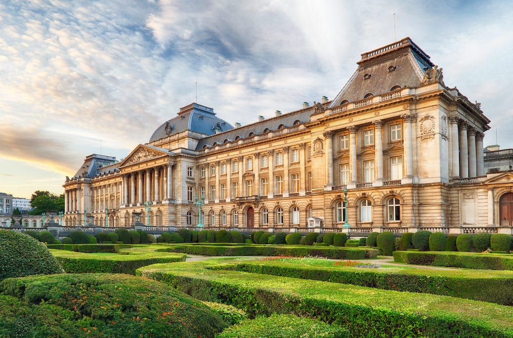 Royal Palace in Brussels in summer day Belgium