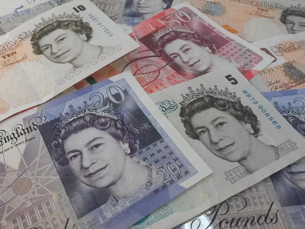 LONDON UK - : British Sterling Pound notes