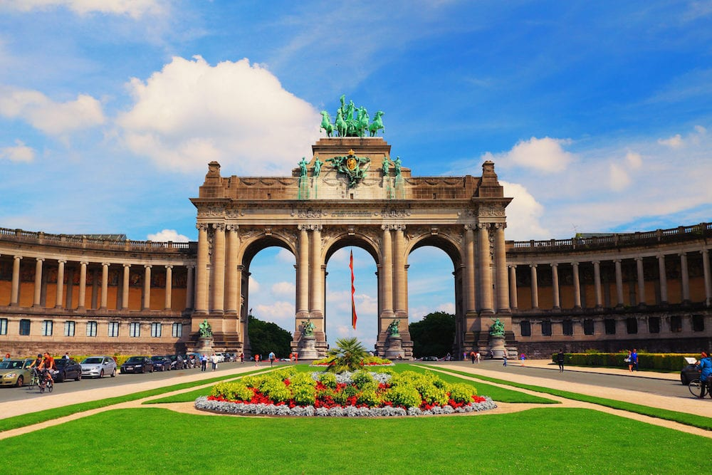 Brussels, Belgium - : Parc du Cinquantenaire in Brussels on a sunny day. Famous attraction of Belgium.
