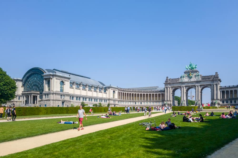 Brussels, Belgium - Park of the Fiftieth Anniversary (Parc du Cinquantenaire) is a large public, urban park in the easternmost part of the European Quarter in Brussels, Belgium.