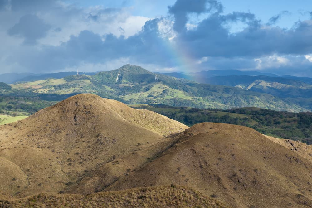 Beautiful afternoon valley views in Guanacaste, Costa Rica