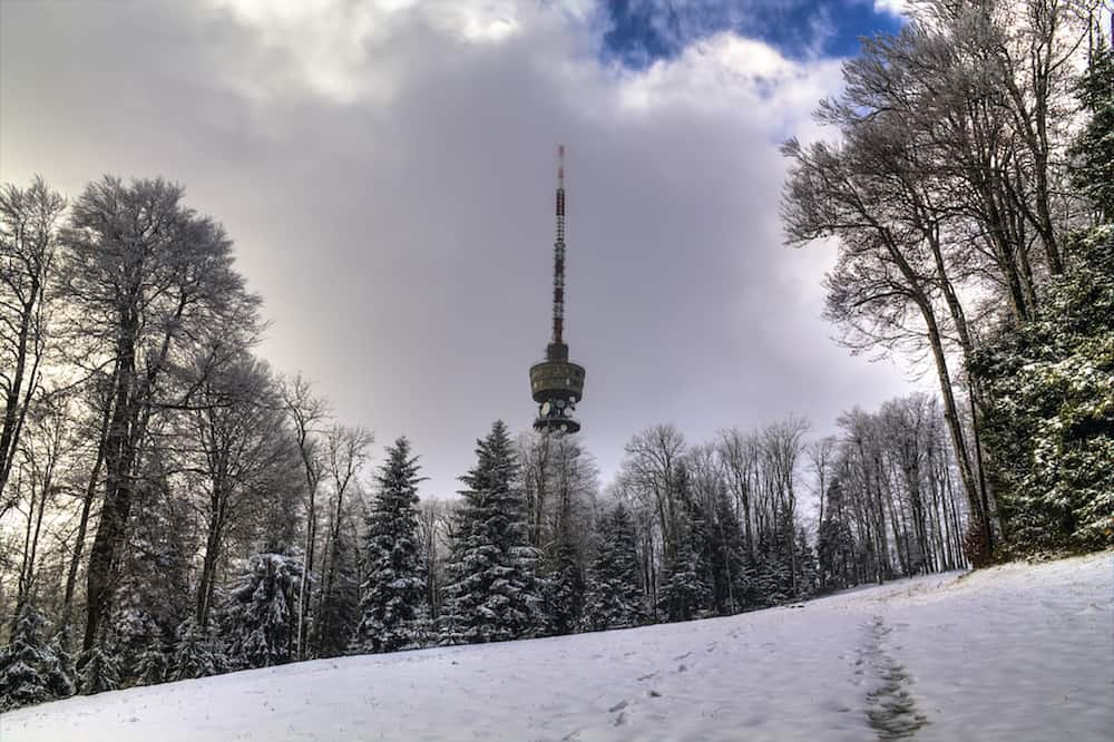 Tower on Medvednica mountain in Zagreb Croatia
