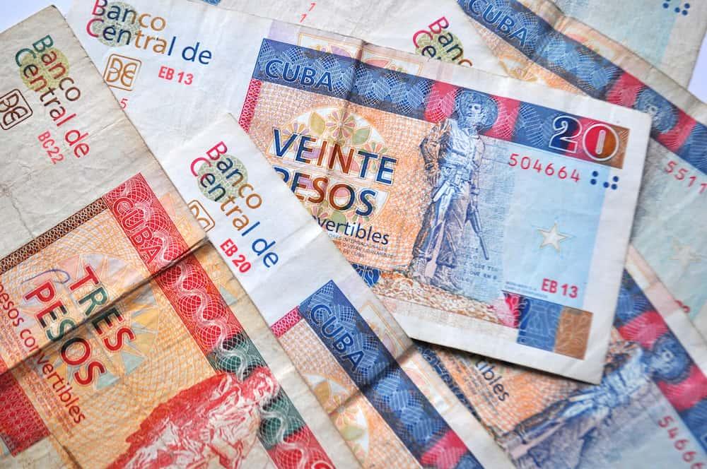Travel to Cuba - Cuban currency - convertible pesos bank notes detail, money close up