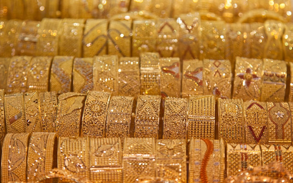 "Gold on the famous ""Golden souk"" in Dubai"