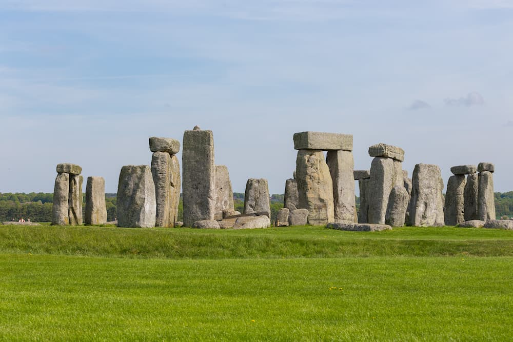 Stonehenge, Salisbury, : Stonehenge an ancient prehistoric stone monument. It was built anywhere from 3000 BC to 2000 BC. Stonehenge is a UNESCO World Heritage Site in England.