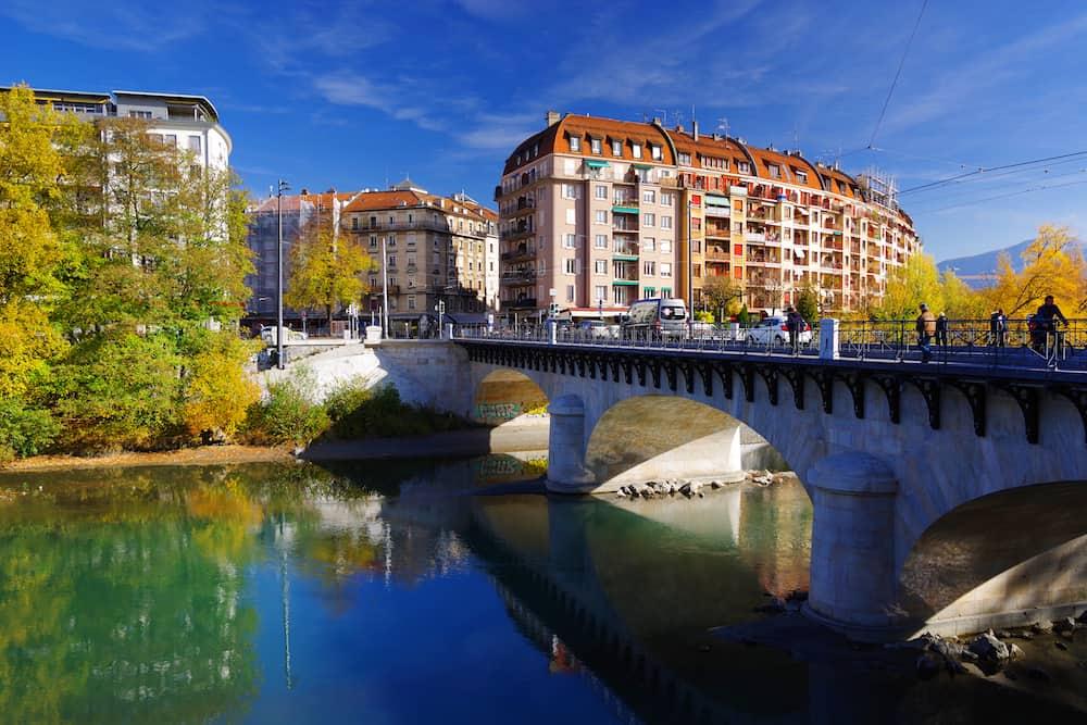 GENEVA - SWITZERLAND, : Pont de Carouge , landmark of Geneva, Switzerland, Europe