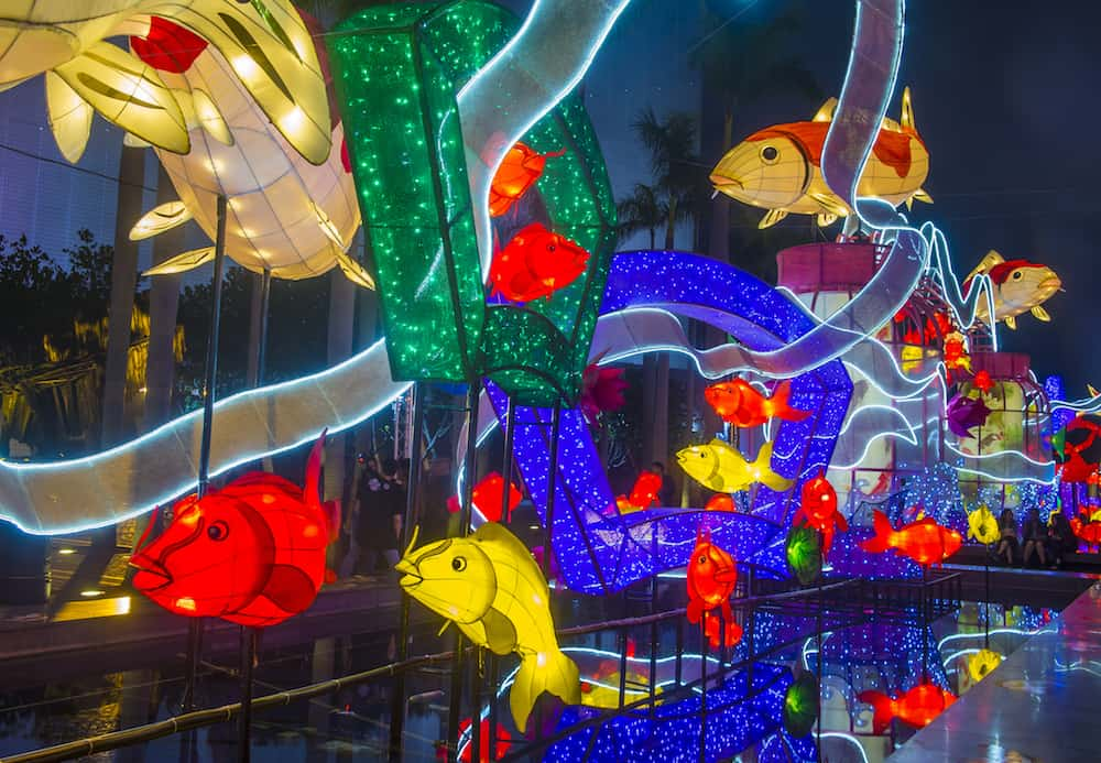 HONG KONG: The Spring Lantern exhibition in Hong kong. The annual Lantern exhibition is part of the Lunar New Year festivities in Hong Kong