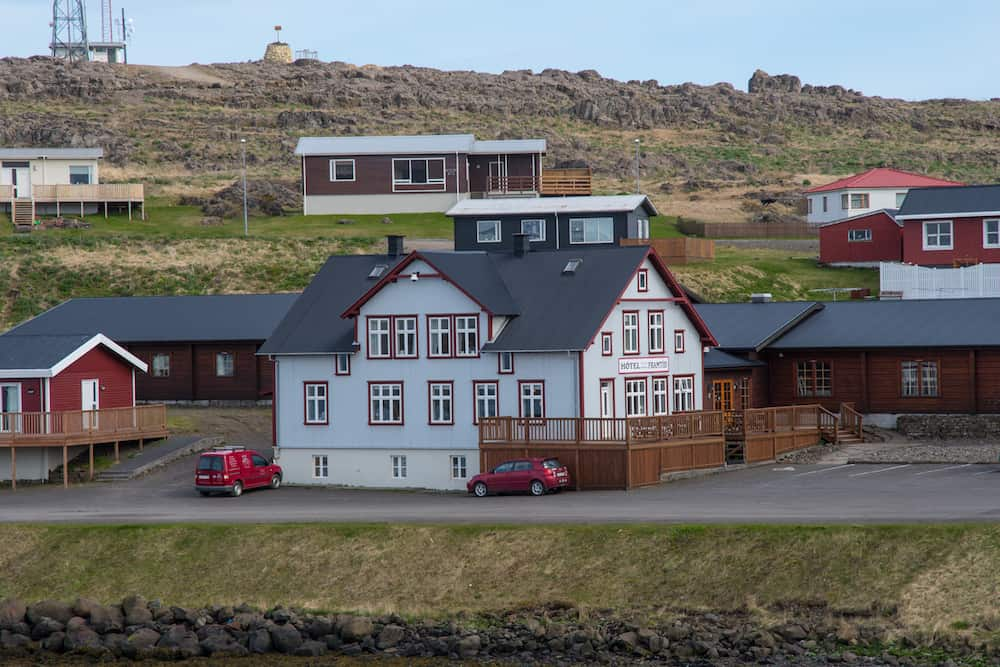 Djopivogur Iceland - Hotel in town of Djupivogur in East Iceland