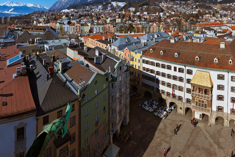 Famous golden roof in Innsbruck Austria - architecture background