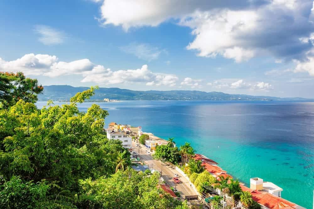 Jamaica island, Montego Bay on Caribbean beach.