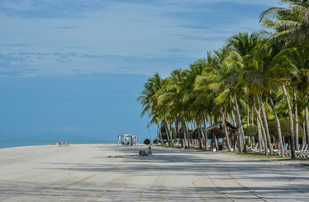 Langkawi, Malaysia - . Beautiful Pantai Cenang Beach at sunny day in Langkawi, Malaysia.