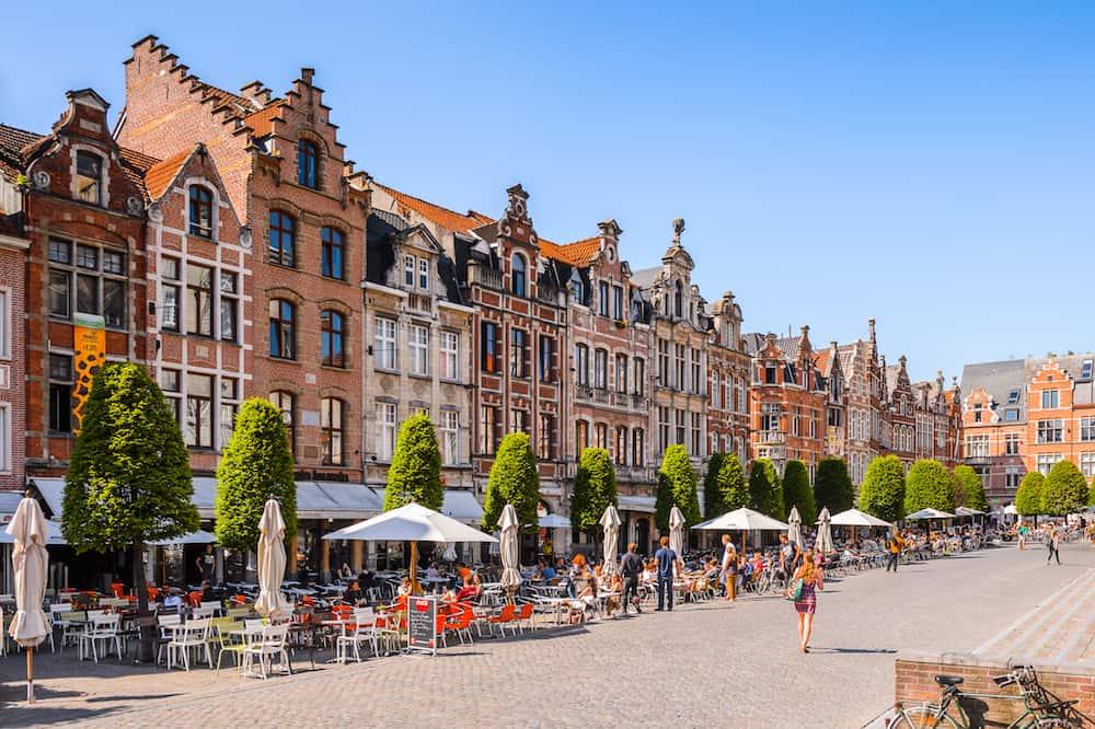 LEUVEN BELGIUM -Architecture of Leuven Belgium. Leuven is the capital of the province of Flemish Brabant in the Flemish Region Belgium