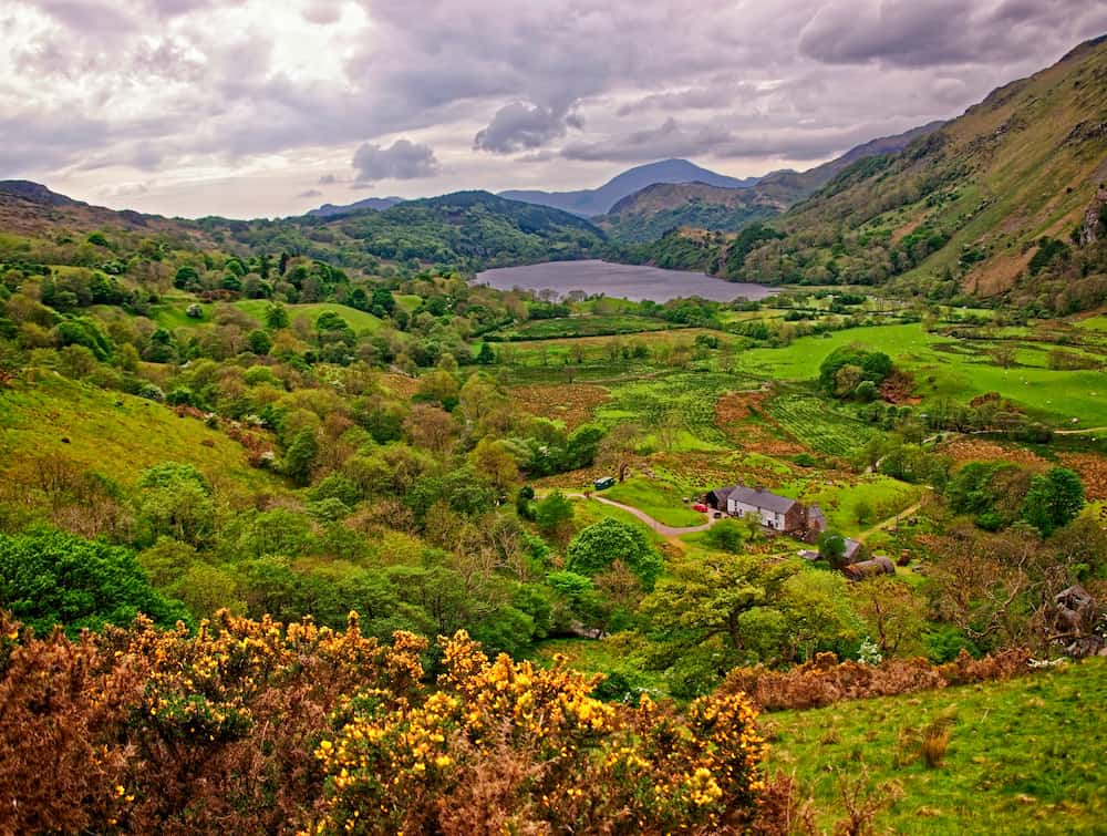 Beautiful nature in Snowdonia National Park, Wales.