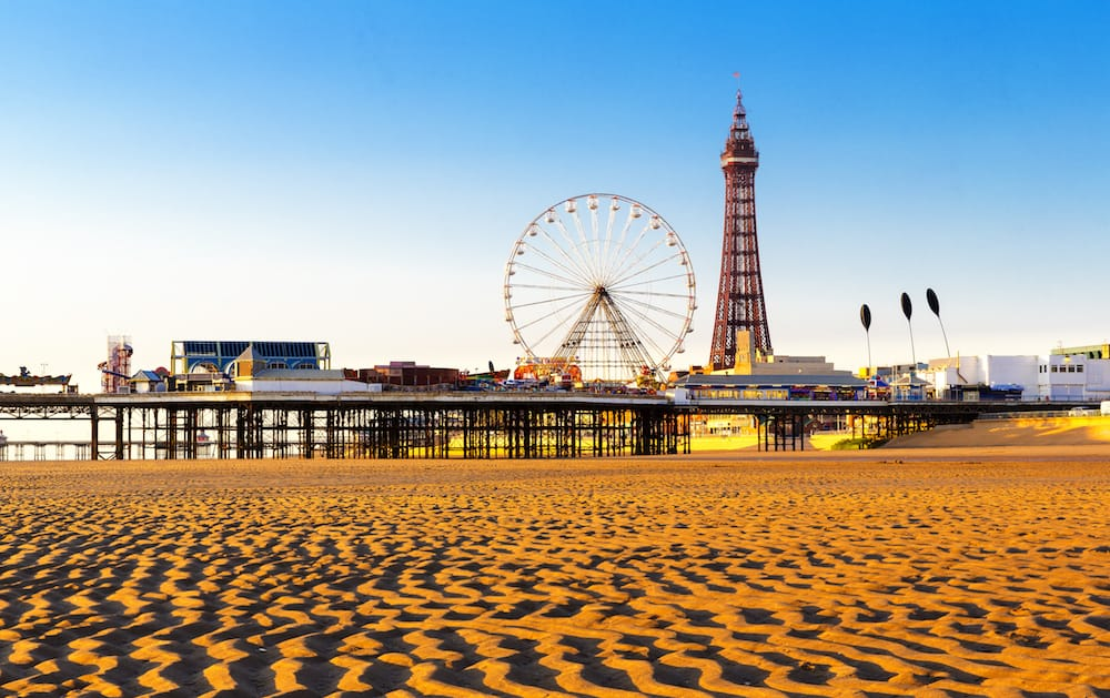 Blackpool Tower and Central Pier Ferris Wheel, Lancashire, England