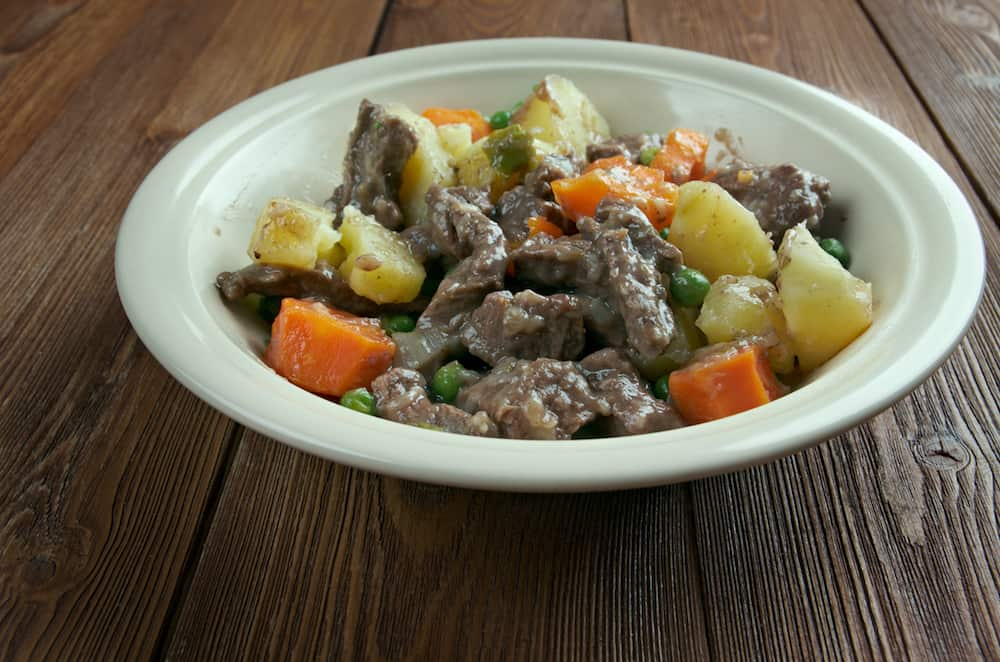 Scouse - type of lamb or beef stew. stew commonly eaten by sailors throughout Northern Europe which became popular in seaports Liverpool.