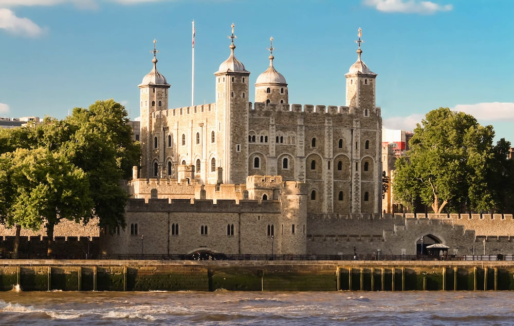 The White Tower - Main castle within the Tower of London and the outer walls in London, England