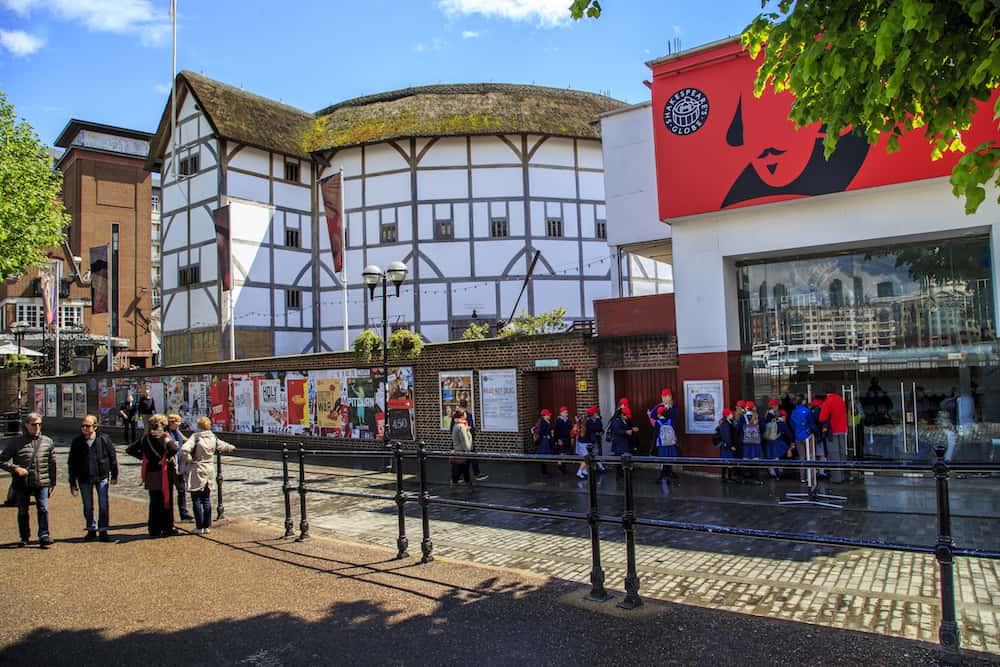 LONDON, GREAT BRITAIN - : This is the new Shakespeare's Globe Theater which was built according to the old plan at the site of the historical Shakespeare Theater.