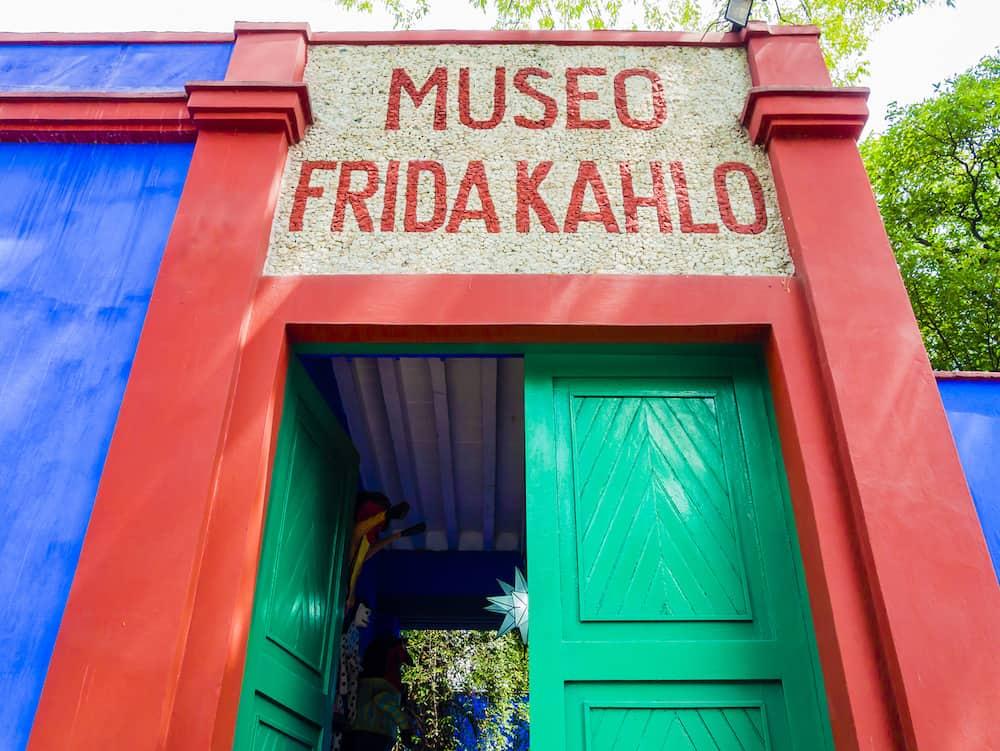 Entrance of Frida Kahlo Museum (also known as the Blue House - La Casa Azul), Coyoacn borough, Mexico City