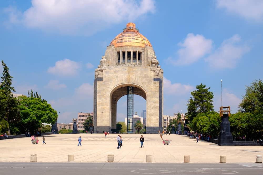 MEXICO CITY,MEXICO - The Monument to the Revolution in Mexico City