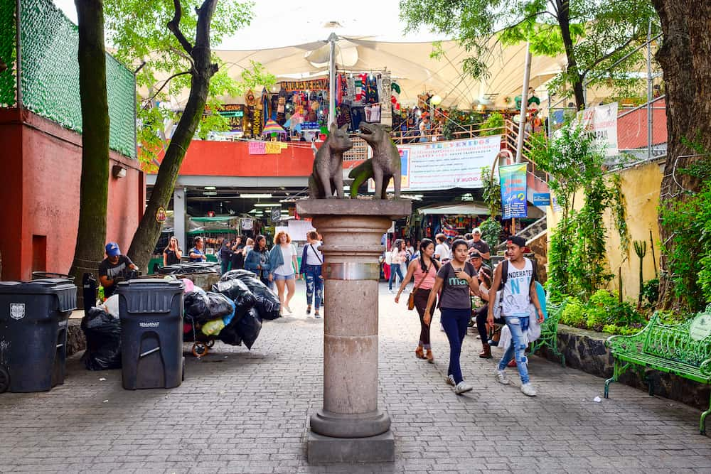 MEXICO CITY,MEXICO - : Traditional handicrafts at Coyoacan in Mexico City