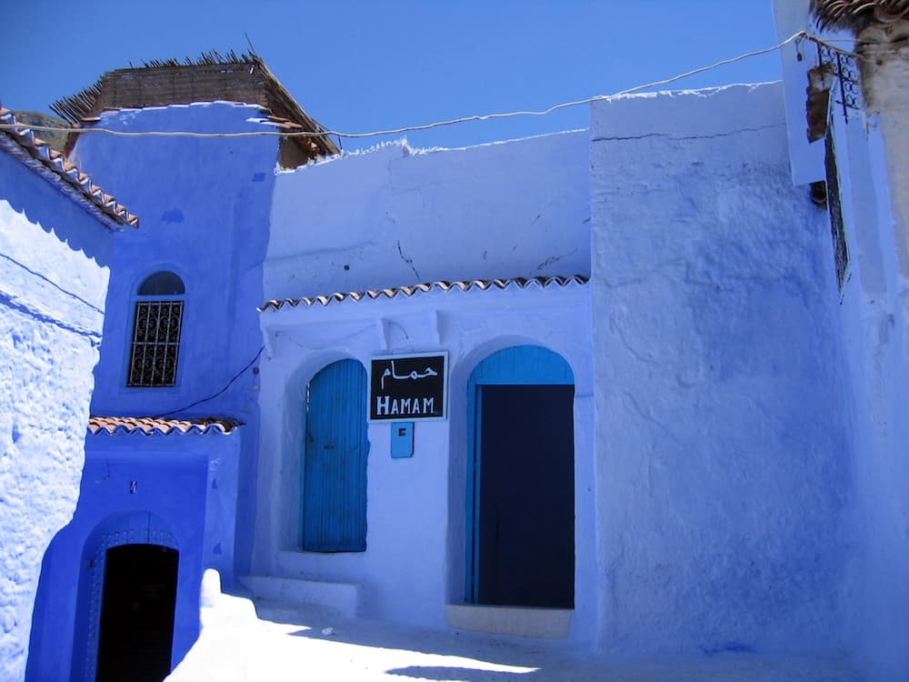 turkish bath (hamam) in a blue town of chefchaouen