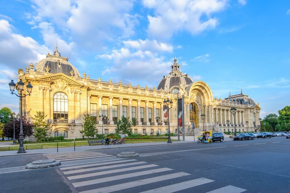 facade view of Petit Palais Museum in paris, france