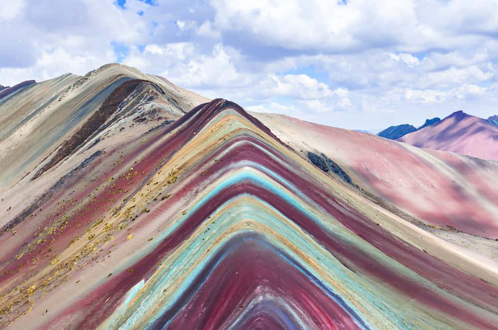 Rainbow Mountains, Cusco, Peru. Vinicunca, Peru - Rainbow Mountain 5200 m in Andes, Cordillera de los Andes, Cusco region in South America