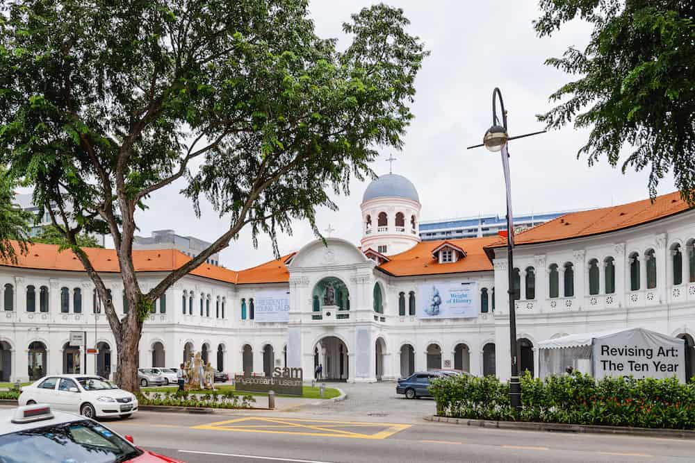 SINGAPORE, SINGAPORE - Building and grounds of Singapore Art Museum.