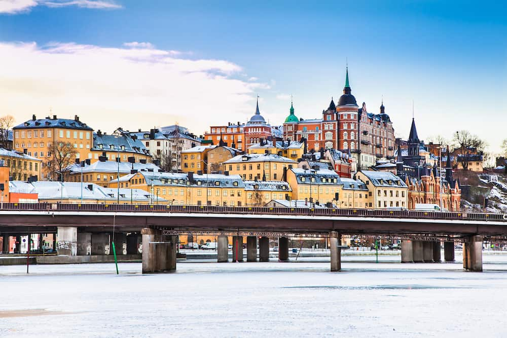 STOCKHOLM SWEDEN - Architecture in the centre of Stockholm, Sweden. Stockholm is the capital of Sweden and the most populous city in Scandinavia