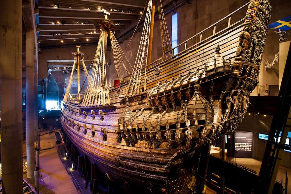 STOCKHOLM, SWEDEN - : Famous ancient reconstructed vasa vessel in Stockholm, Sweden