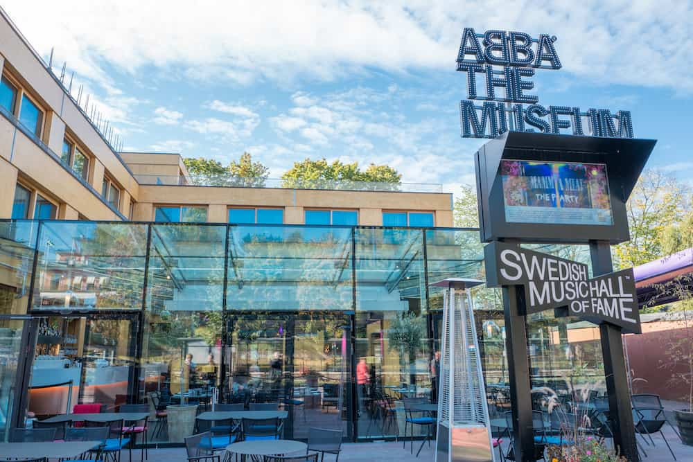 STOCKHOLM, SWEDEN - Exterior of ABBA The Museum. The ABBA museum has become one of Stockholms major tourist attractions.