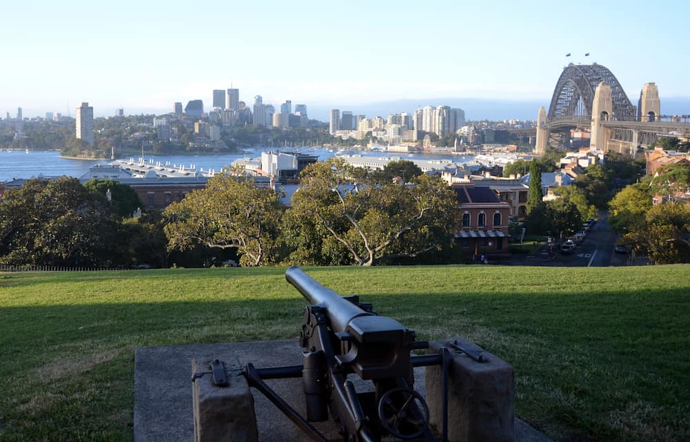 Sydney Harbour viewed from Observatory Hill (Sydney Australia)