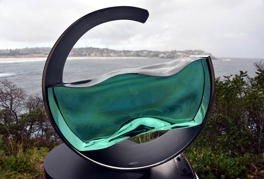 Sydney, Australia - Tsukasa Nakahara: High Tide. Sculpture by the Sea along the Bondi to Coogee coastal walk is the world largest free to the public sculpture exhibitions.