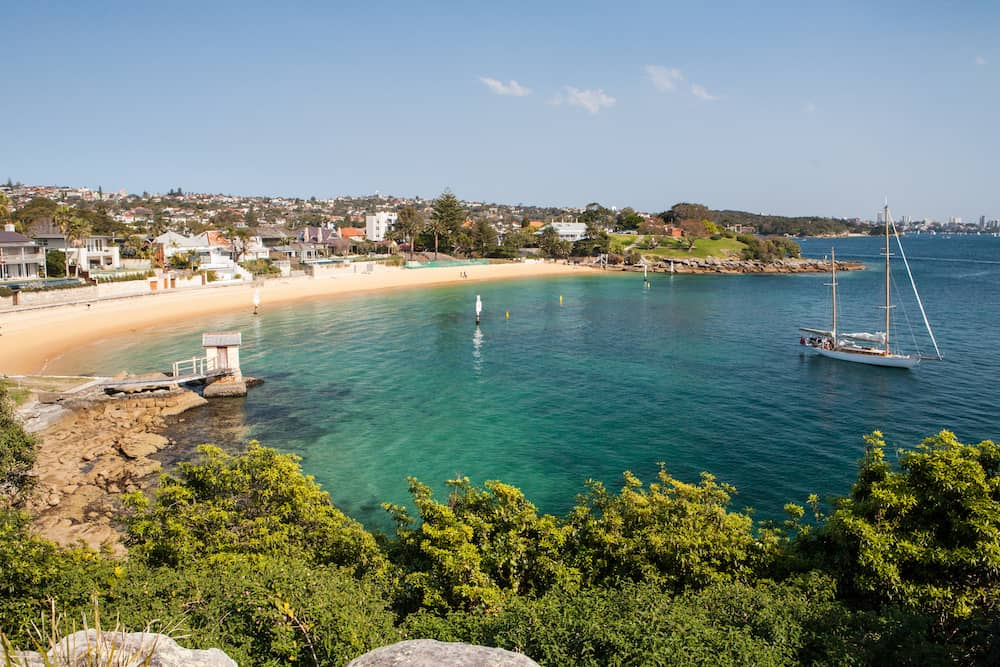 The exclusive Camp Cove near Watson's Bay in Sydney Australia